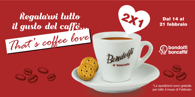 That's coffee love Bondolfi Boncaffè San Valentino